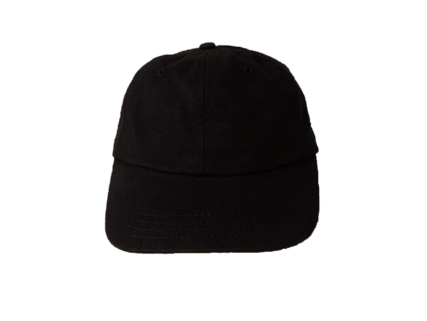 Mid profile black six panel baseball cap front - Baseball Hat PNG Front