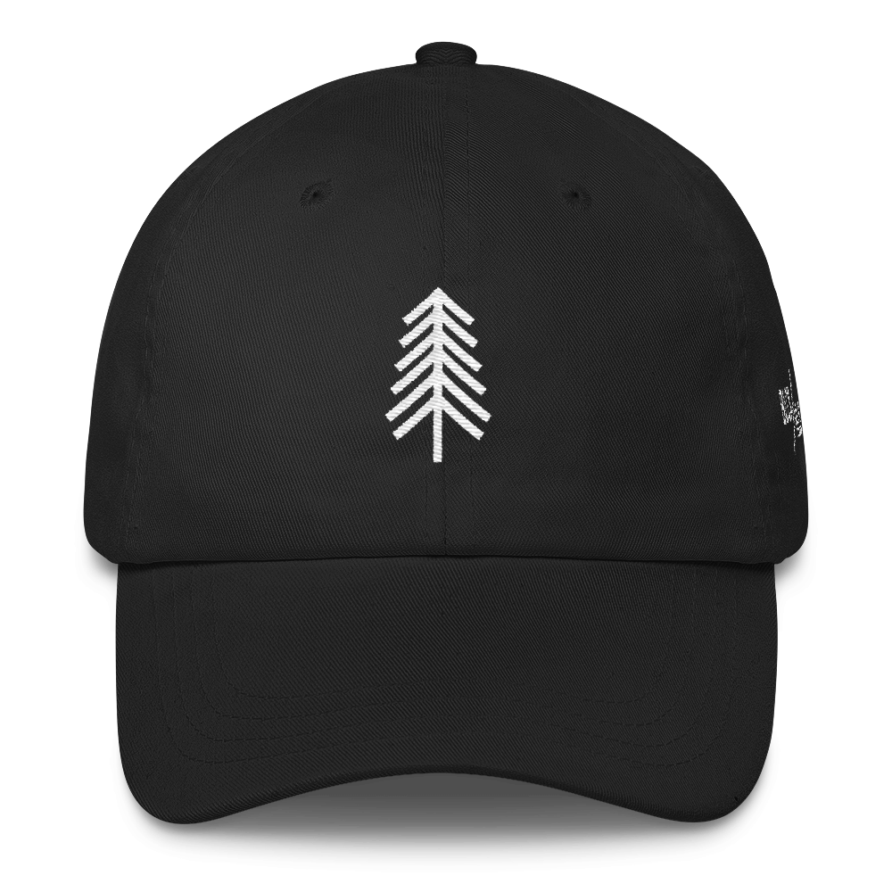 Pine Tree BLCK / HLLS Baseball Hat - Baseball Hat PNG Front
