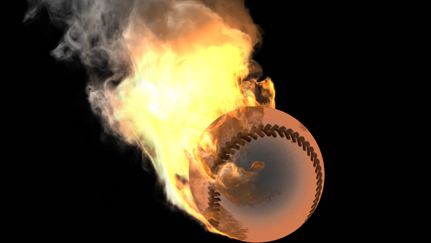 burning baseball ball rendered in PNG with alpha channel - HD stock footage  clip - Baseball HD PNG