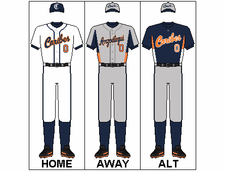 File:Uniforms of Caribes de Anzoategui baseball team.png - Baseball Team PNG