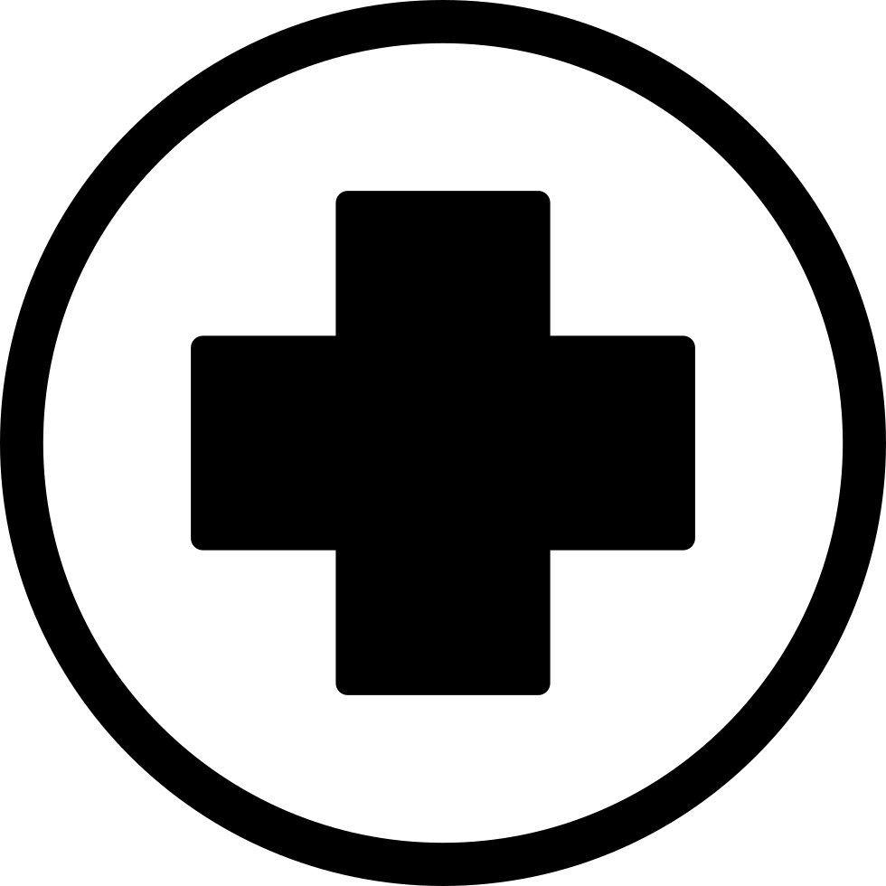 First Aid Cross In Black Inside A Circle Comments - Basic First Aid PNG