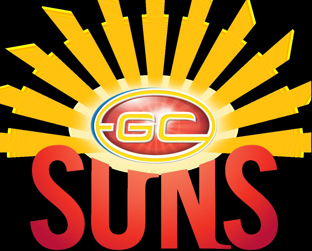 1270px-Gold Coast Suns logo.png - Basic Sun PNG