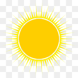 Download Cartoon Font - Natural yellow sun weather - Basic Sun PNG