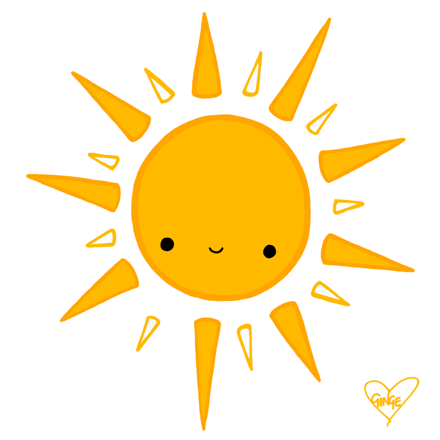 Sun Drawing - Basic Sun PNG