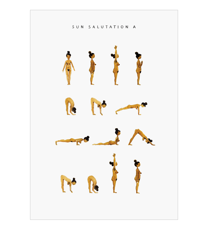 Sun salutation A poster is a part of Marie Jørgensenu0027s yoga poster series.  It shows the basic yoga sequence u201csun salutation Au201d. These digital prints  are PlusPng.com  - Basic Sun PNG