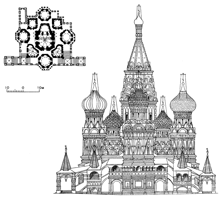 File:St Basilu0027s Cathedral Line Drawing.png - Basil PNG Black And White