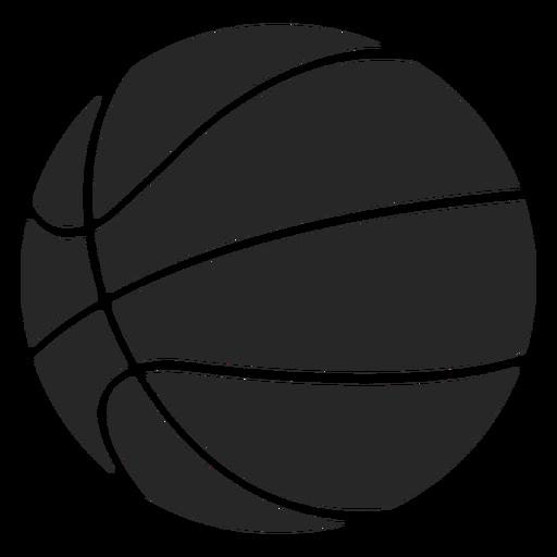 Basketball ball icon silhouet