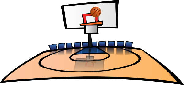 Basketball Court Basketball Court Clip Panda Free Images School - Basketball Court PNG HD