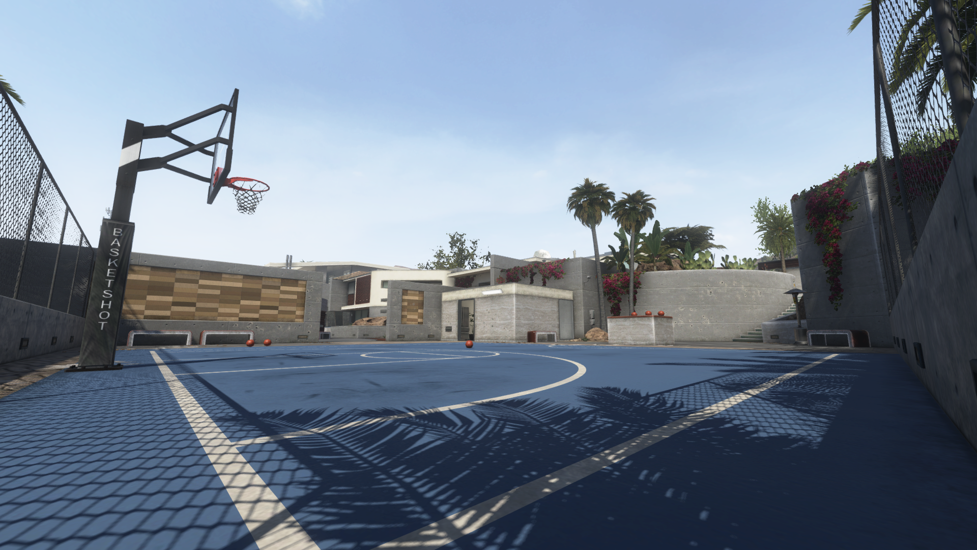 Raid basketball court BOII.png - Basketball Court PNG HD