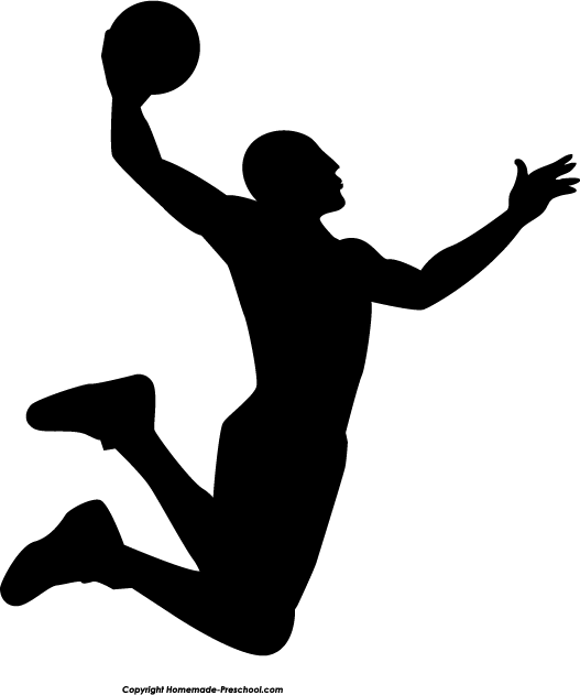 Basketball Dunk Silhouette Clipart - Basketball Dunk PNG