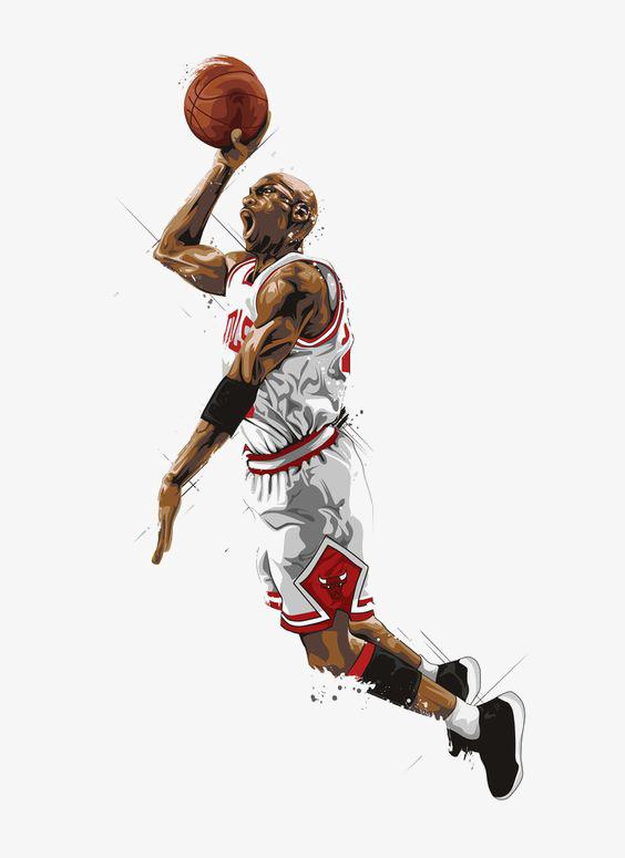 Hand-painted basketball playe