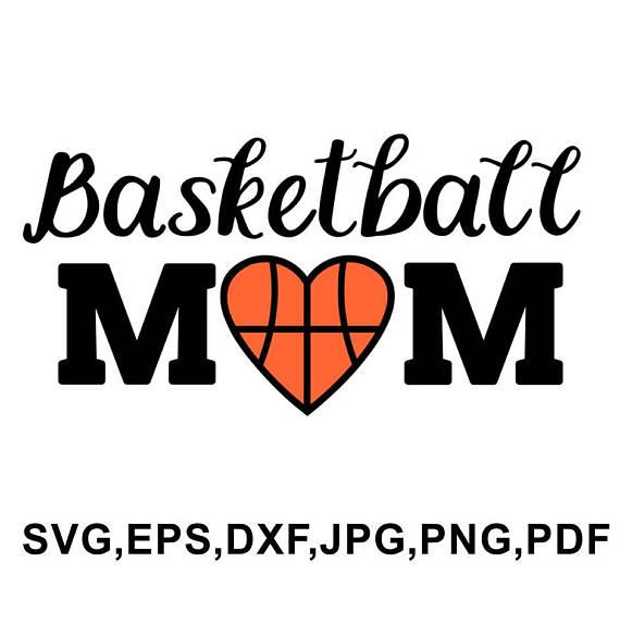 Basketball mom svg file - basketball design - basketball cameo and cricut  files svg, eps, dxf, jpg, png, pdf