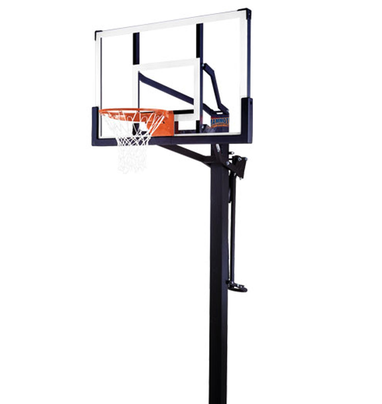 The Mammoth 98856- 54 Inch Mammoth Basketball System- Only At The Basketball  Hoop SuperStore - Basketball Net PNG HD