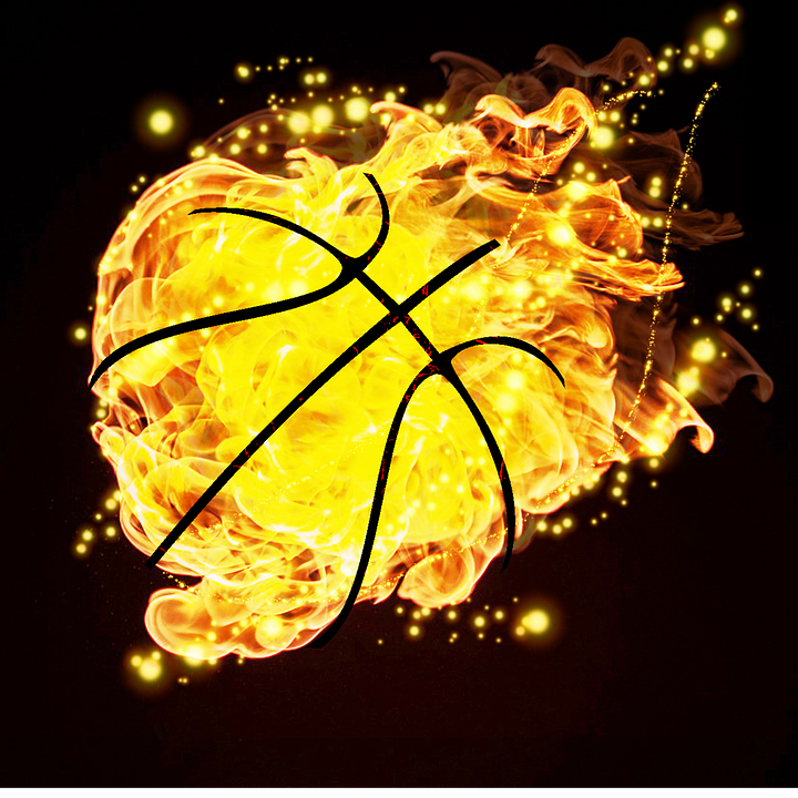 basketball ball fire sport - Basketball On Fire PNG
