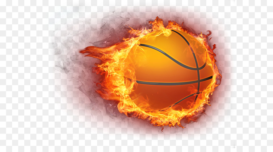 Basketball Fire Icon - Flame basketball - Basketball On Fire PNG