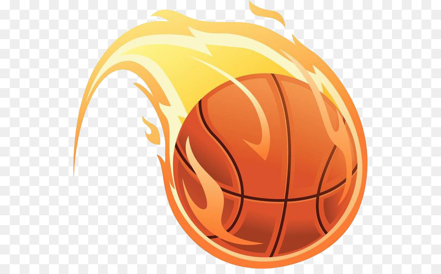 Basketball Fire Illustration - Basketball flame - Basketball On Fire PNG