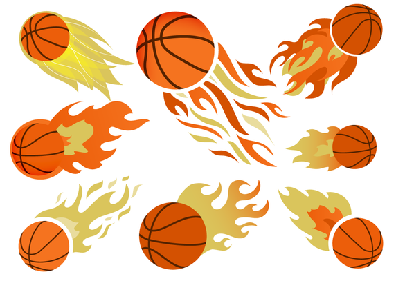 Basketball on Fire Free Vector free vector - Basketball On Fire PNG