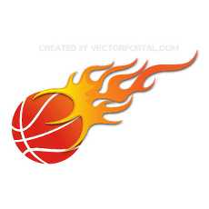 . PlusPng.com BASKETBALL ON FIRE VECTOR PlusPng.com  - Basketball On Fire PNG