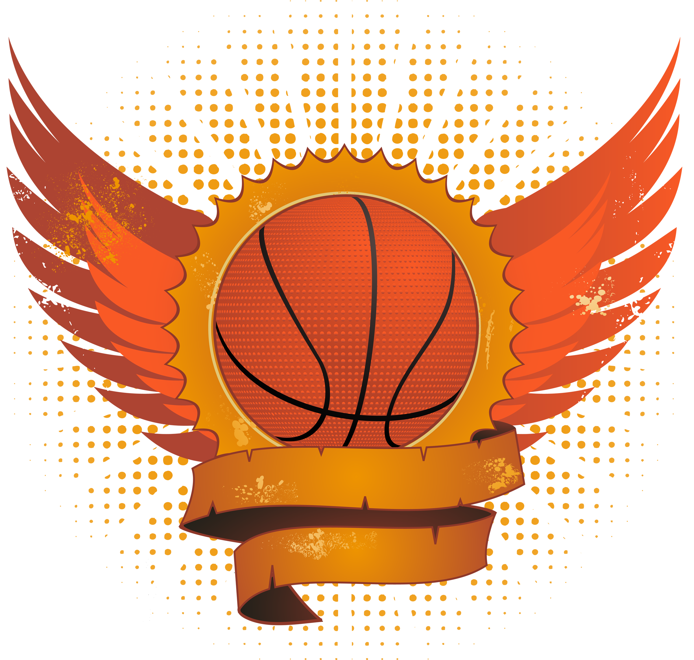 Basketball with Wings - Basketball On Fire PNG