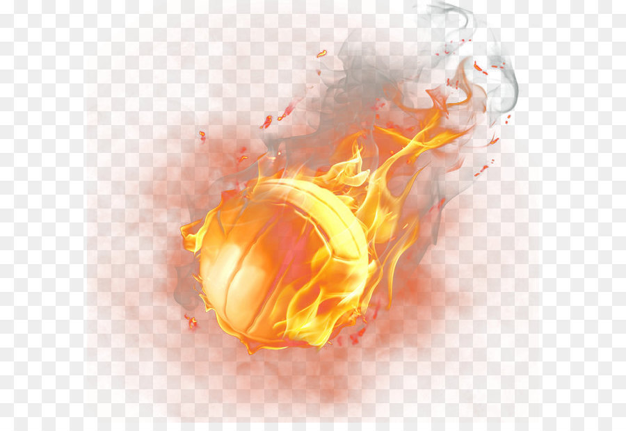 Basketball On Fire PNG - 157526