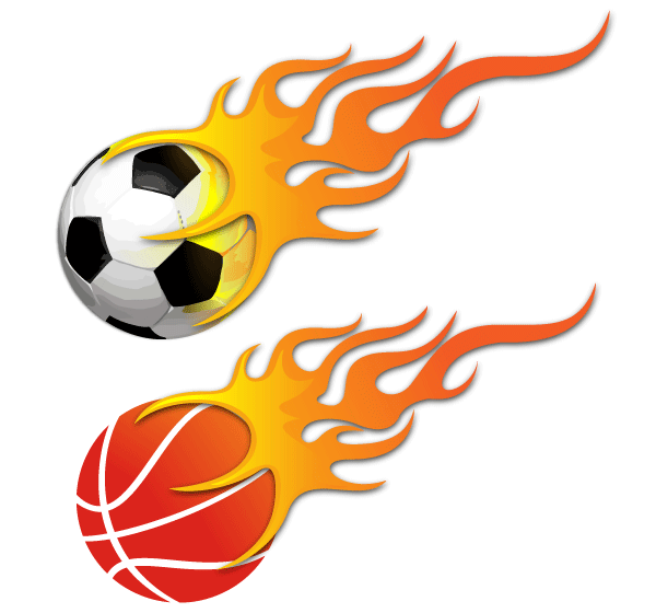 Vector Ball on Fire - Soccer Ball and Basketball, vector graphics -  365PSD pluspng.com - Basketball On Fire PNG