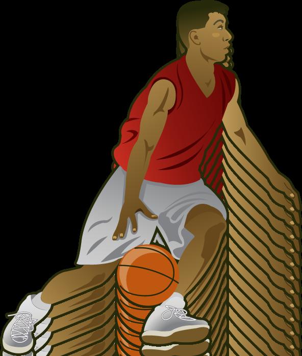 Basketball Player Clipart - Basketball Players PNG HD