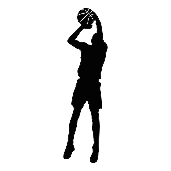 Basketball Player Wall Art Appliqué - Basketball Shot PNG