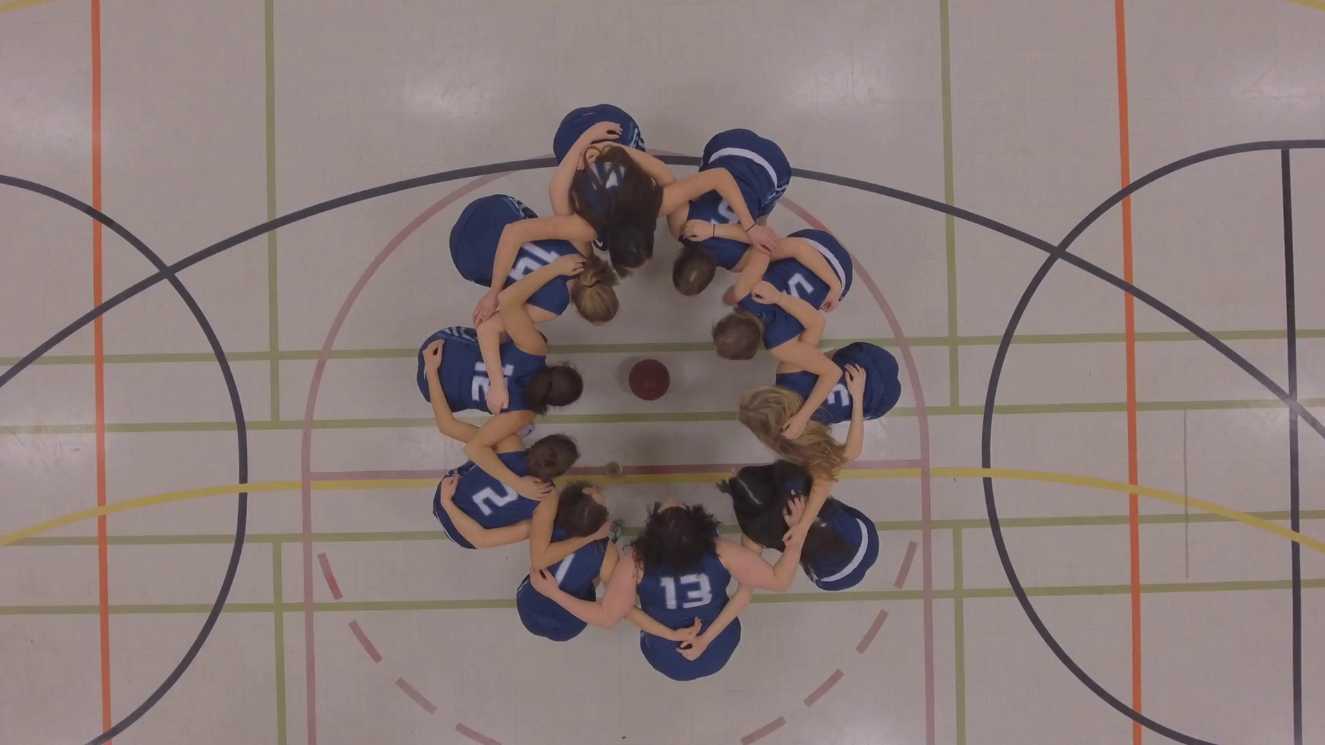 womens basketball team huddle up game plan aerial 4k Stock Video Footage -  VideoBlocks - Basketball Team Huddle PNG