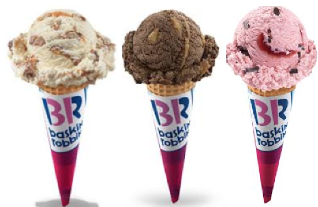 my girlfriendf is obsessed with this stuff, but to me it taste awful. Is it  good ice cream ? - Baskin Robbin PNG