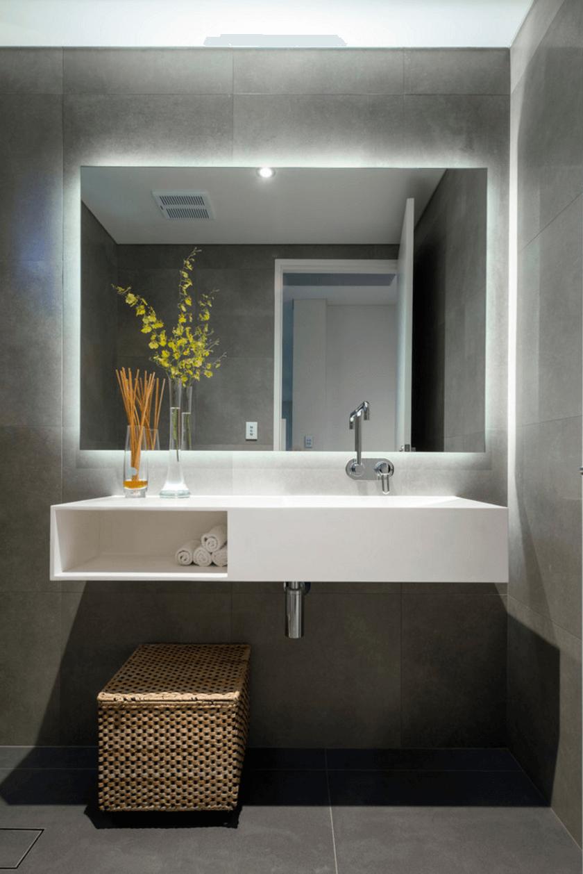 Collect this idea illuminated-large-mirror - Bathroom Interior PNG