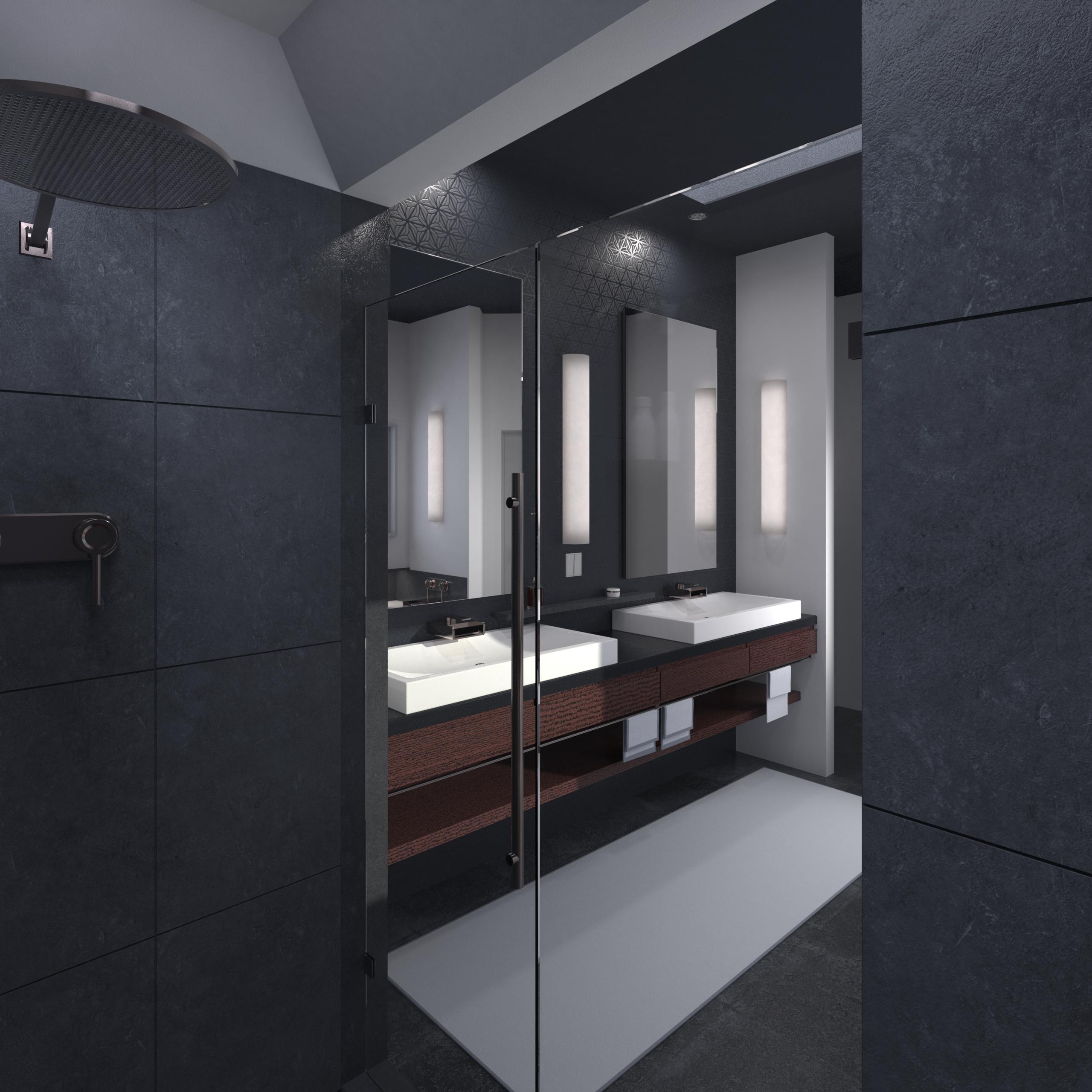 Contemporary Bathroom Interior.52.png PlusPng.com  - Bathroom Interior PNG