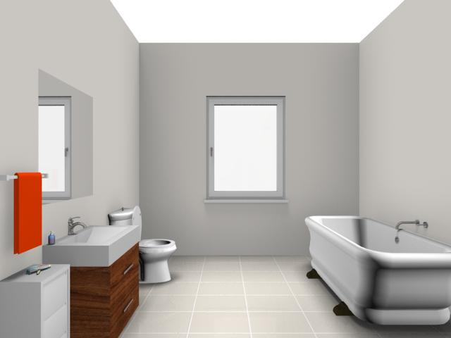 Rendered image: bathroom PlusPng.com  - Bathroom Interior PNG