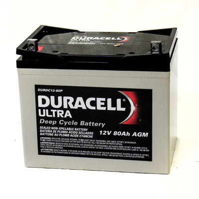 Duracell Ultra Shoprider HD 888WHD Wheelchair and Mobility 80AH Deep Cycle  AGM Battery - Batteries PNG HD