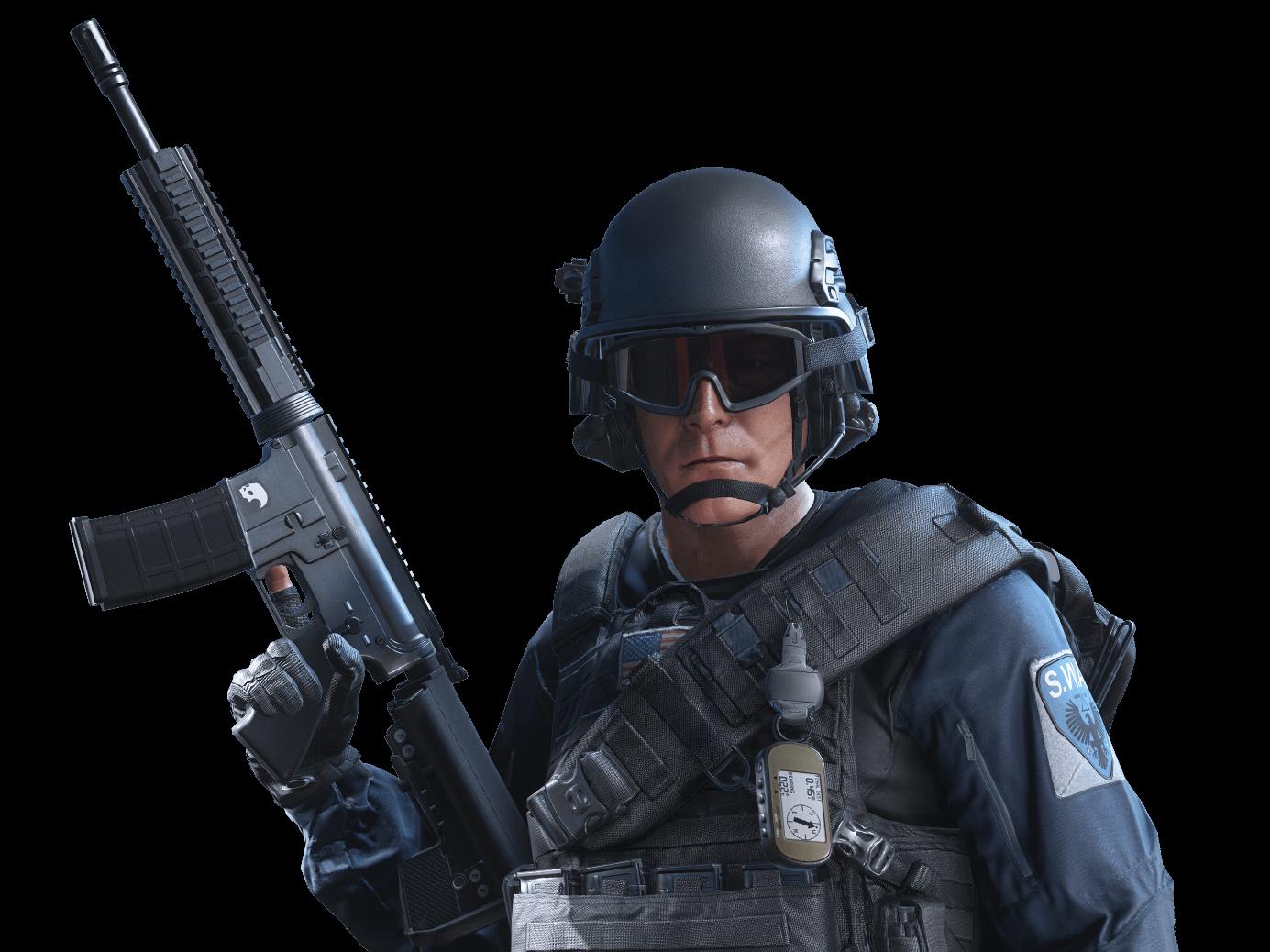 Battlefield Hardline Soldier - Battlefield Hardline PNG