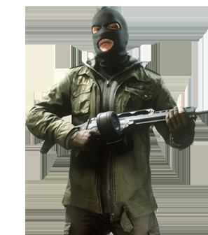 Criminal Enforcer - Battlefield Hardline PNG