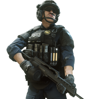 File:Law Enforcement Enforcer.png - Battlefield Hardline PNG