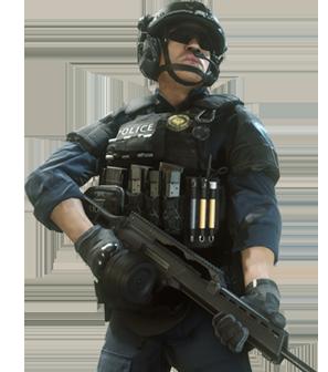 Law Enforcement Enforcer - Battlefield Hardline PNG