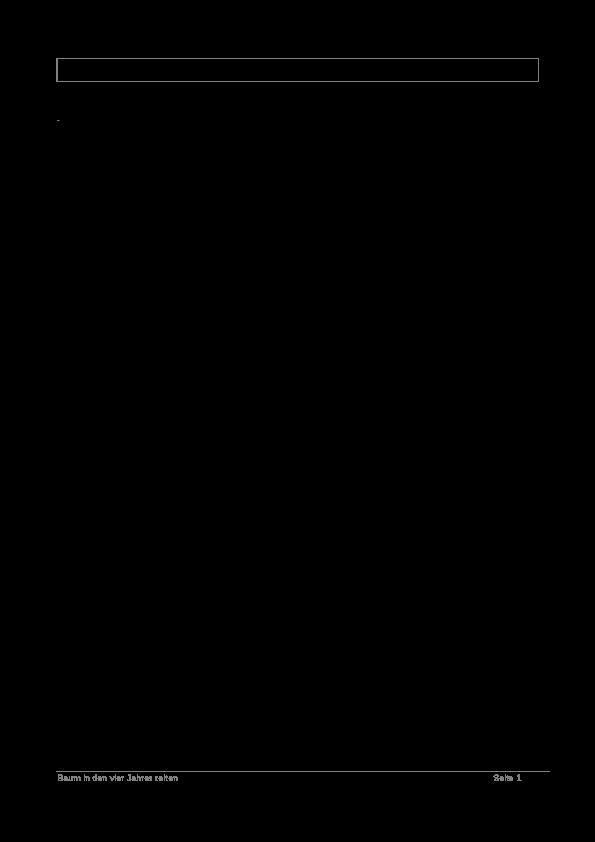 Baum Jahreszeiten PNG - 48198