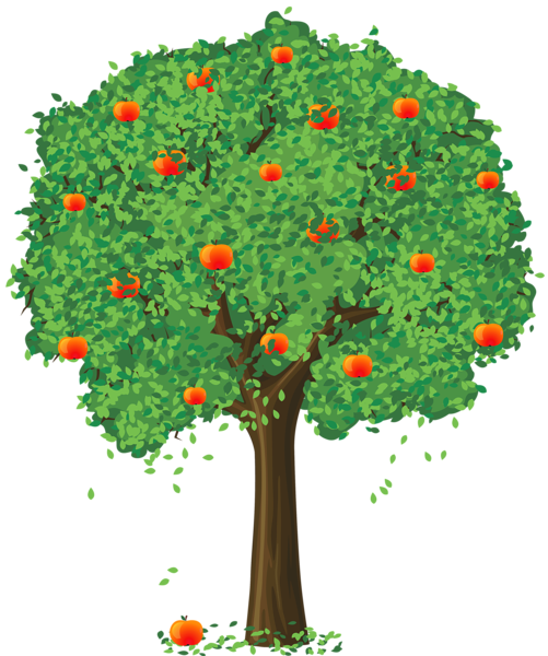 Painted Apple Tree PNG Clipart - Baum Vier Jahreszeiten PNG