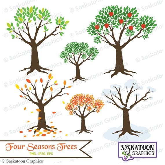 Vier Jahreszeiten Baum Natur Clipart - sofort-Download-Datei - digitale  Grafik - süß - Handwerk, Parteien - kommerziellen und persönlichen Gebrauch  - #N006 - Baum Vier Jahreszeiten PNG