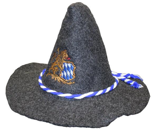 Oktoberfesthut mit Stickerei - Bayrischer Hut PNG