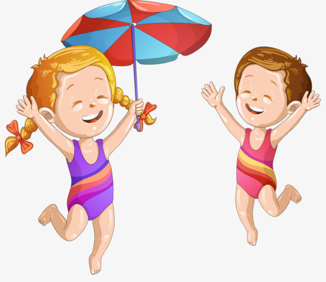 childrenu0027s beach, Boy, Girl, Swimming Beach PNG Image and Clipart - Beach Boy PNG