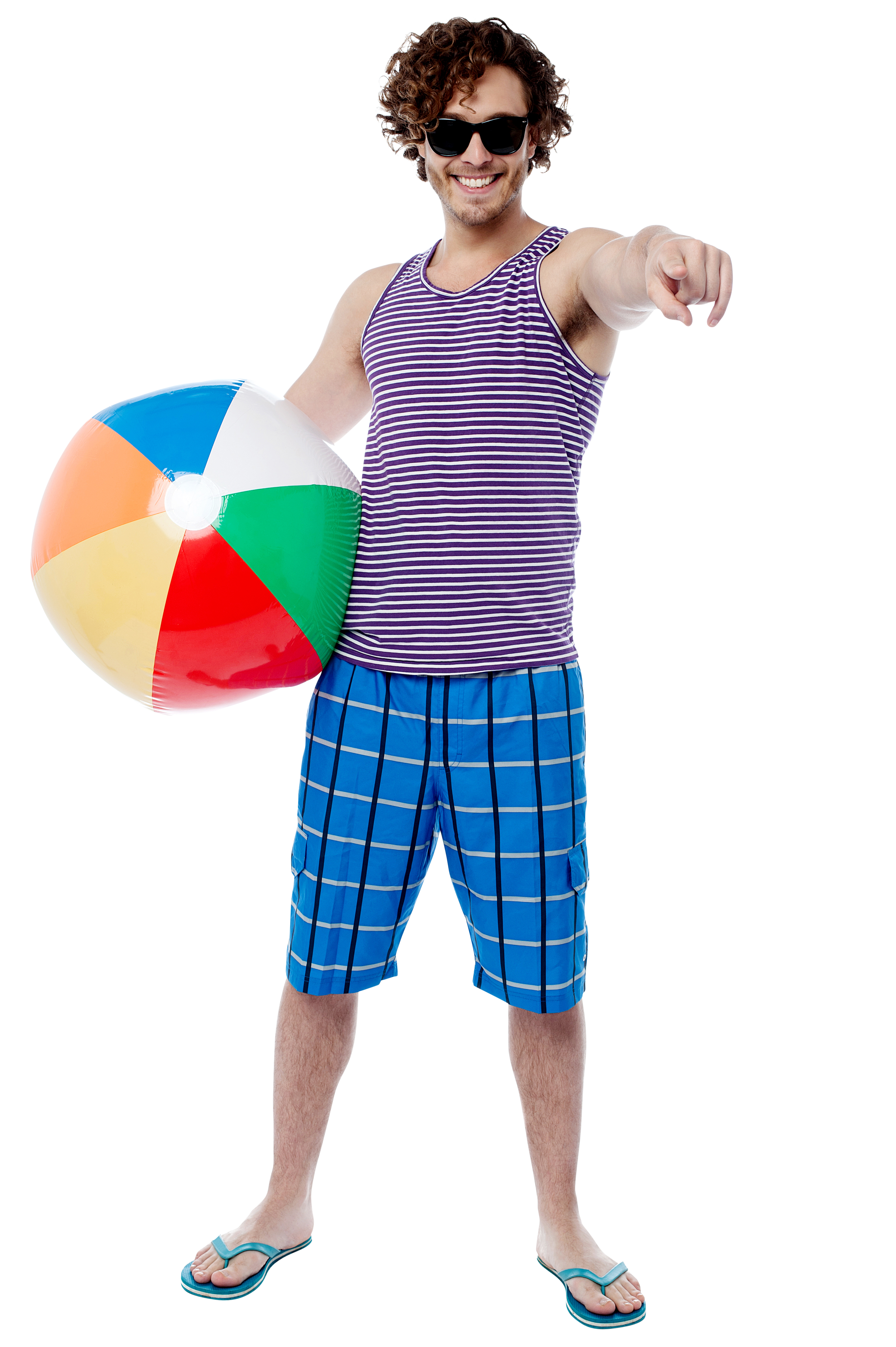 Men With Beach Ball Royalty-Free PNG Image - Beach Boy PNG