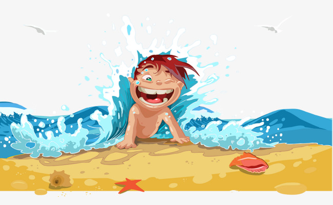 vector beach boy surfing happy boy, Beach Surfing, Happy Boy, Vacation PNG  and - Beach Boy PNG