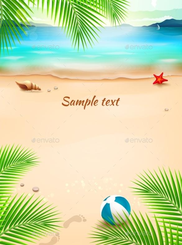 Amazing Premium Summer Beach Background - Beach PNG
