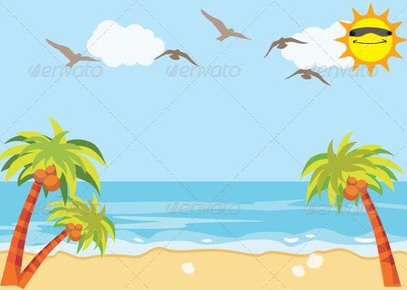 Great Premium Beach Background Download - Beach PNG