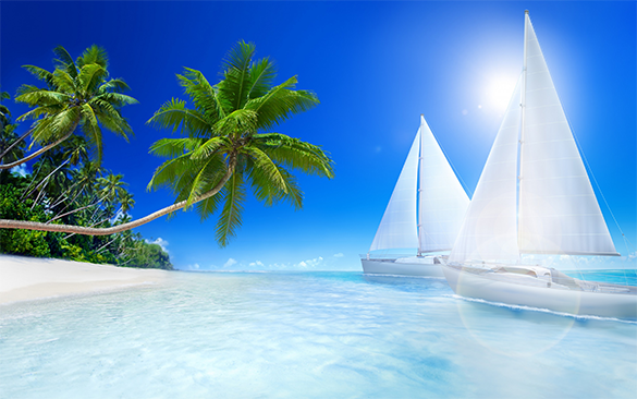 Tropical Beach Background for Free - Beach PNG