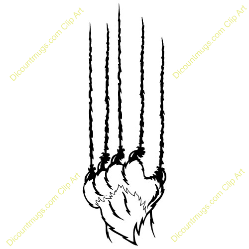 Bear Claw Marks Clipart - Bear Claw Scratch PNG