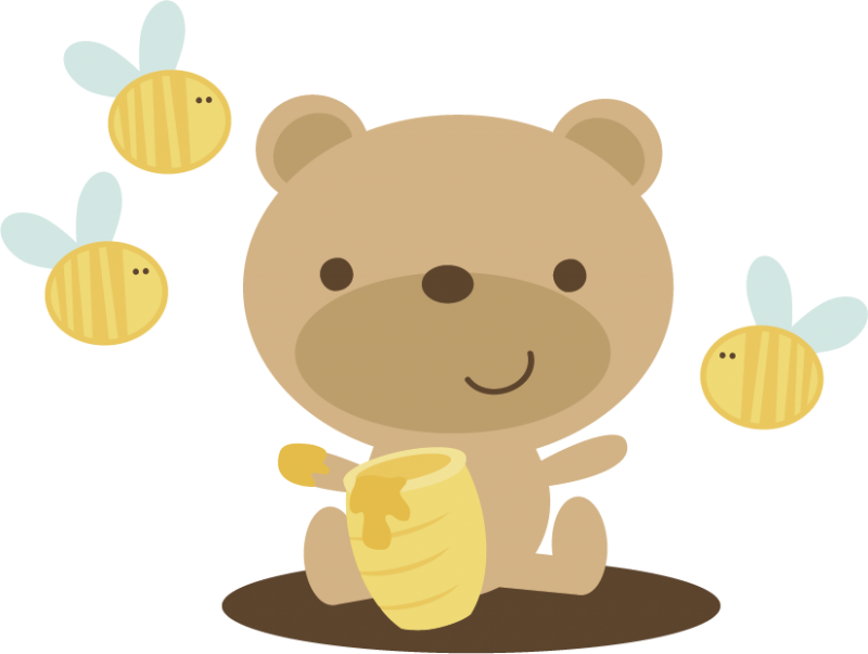 Bear In Pumpkin Patch SVG scr