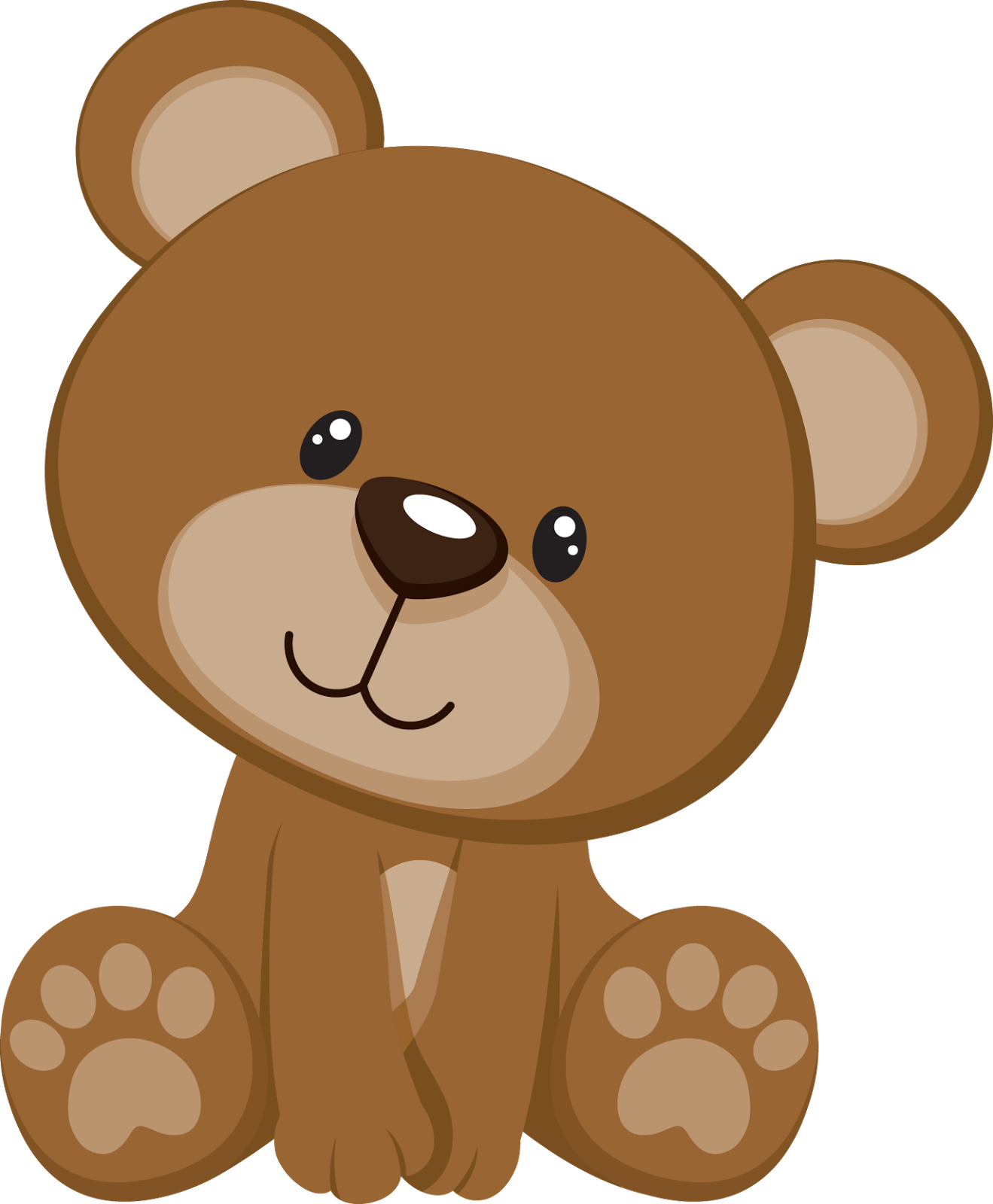 Cute Bear with Kisses PNG Cli